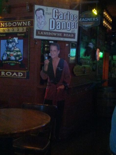 I like a bar with a sense of humor.