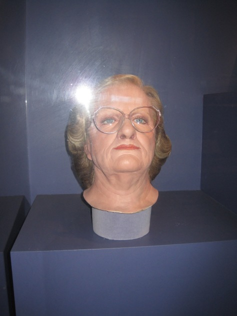 Prosthetics from Mrs. Doubtfire - kind of creepy