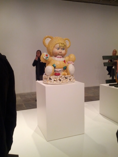 This piece looked like he mashed up Cabbage Patch Kids and Care Bears