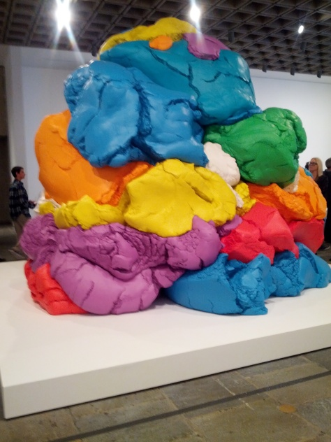 Pile of Play-doh - a new sculpture that took 20 years to make