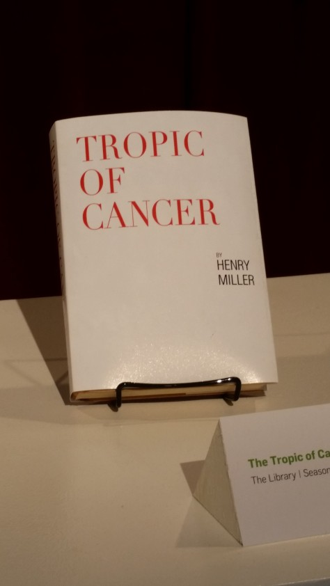 Jerry's copy of Tropic of Cancer