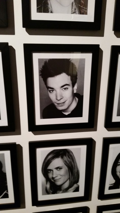 Jimmy Fallon's photo from the wall of head shots of all cast members. His hair cut is terrible.