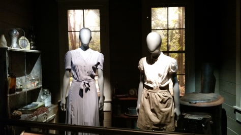 Katniss and Prim's outfits for The Reaping in District 12.