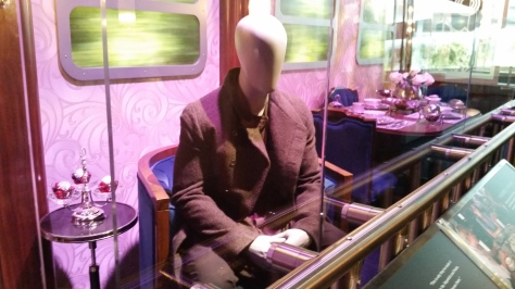 Haymitch's outfit on the train ride to the Capitol.