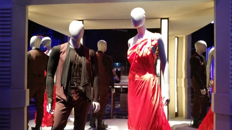 "Peeta and Katniss' ""Girl on Fire"" dress"