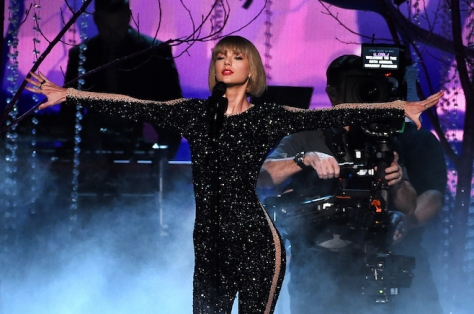 LOS ANGELES, CA - FEBRUARY 15: Recording artist Taylor Swift performs onstage during The 58th GRAMMY Awards at Staples Center on February 15, 2016 in Los Angeles, California. (Photo by Kevin Winter/WireImage)