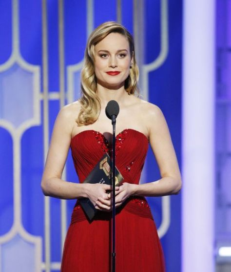 BEVERLY HILLS, CA - JANUARY 08: In this handout photo provided by NBCUniversal, presenter Brie Larson onstage during the 74th Annual Golden Globe Awards at The Beverly Hilton Hotel on January 8, 2017 in Beverly Hills, California. (Photo by Paul Drinkwater/NBCUniversal via Getty Images)