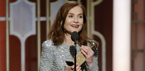 "This image released by NBC shows Isabelle Huppert accepting the award for best actress in a motion picture drama for her role in ""Elle"" at the 74th Annual Golden Globe Awards at the Beverly Hilton Hotel in Beverly Hills, Calif., on Sunday, Jan. 8, 2017. (Paul Drinkwater/NBC via AP)/NYET788/17009155763311/AP PROVIDES ACCESS TO THIS HANDOUT PHOTO TO BE USED SOLELY TO ILLUSTRATE NEWS REPORTING OR COMMENTARY ON THE FACTS OR EVENTS DEPICTED IN THIS IMAGE. THIS IMAGE MAY ONLY BE USED FOR 14 DAYS FROM TIME OF TRANSMISSION; NO ARCHIVING; NO LICENSING./1701090532"